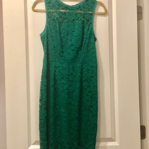 The Limited Green Lace Dress